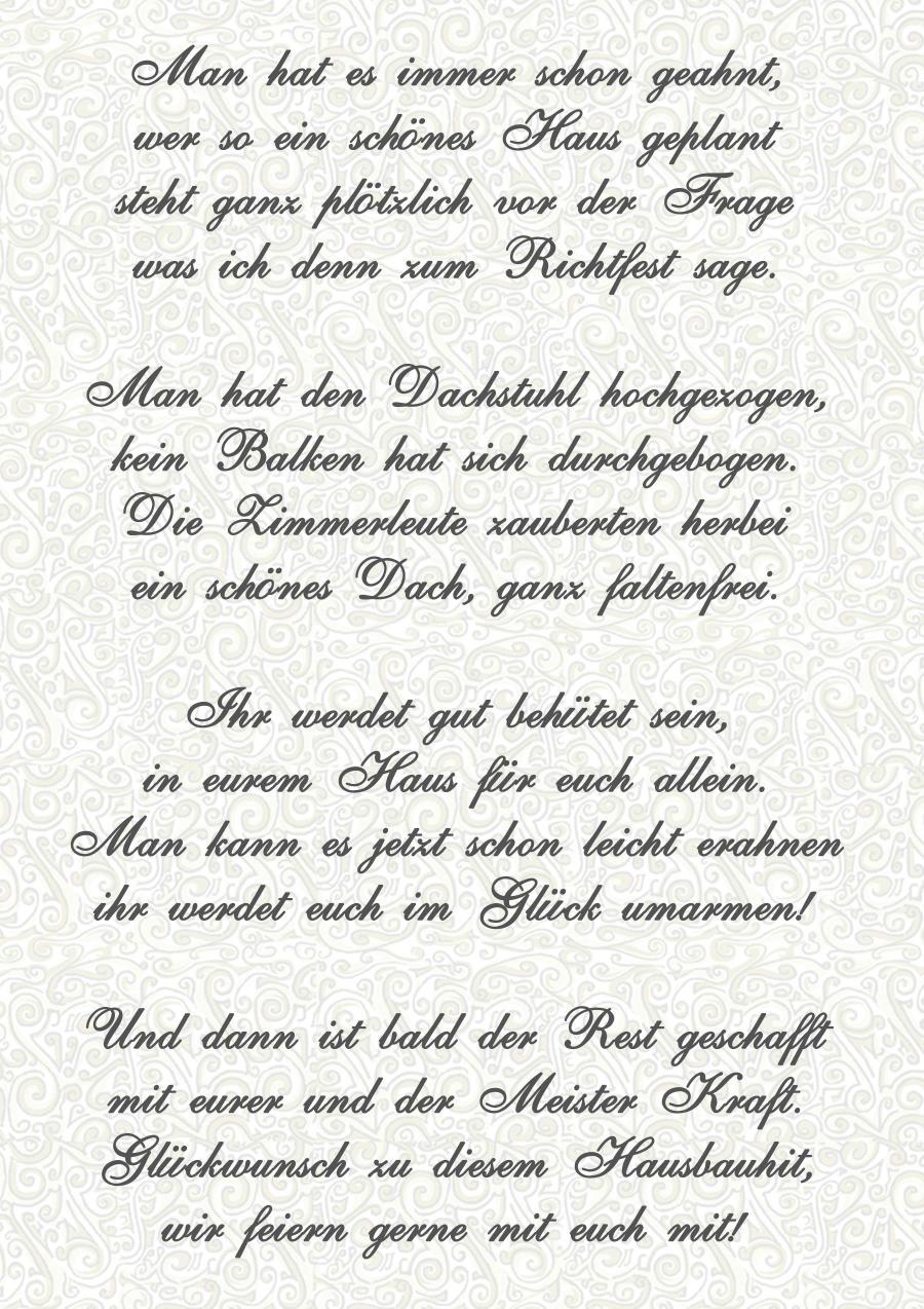Richtfest Gedichte